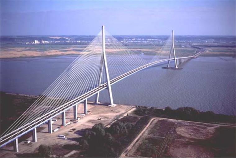 """桥梁工程之斜拉桥设计概论(PPT,94页)-""""钢-混"""" 混合梁斜拉桥"""
