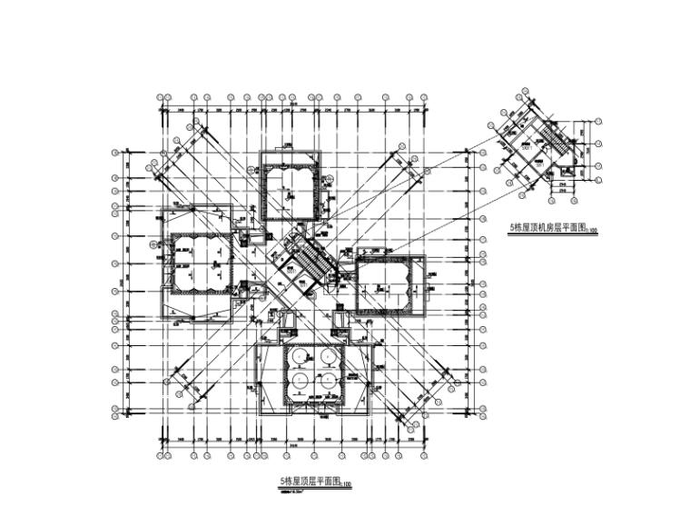 34层框架核心筒高层住宅楼建筑施工图纸