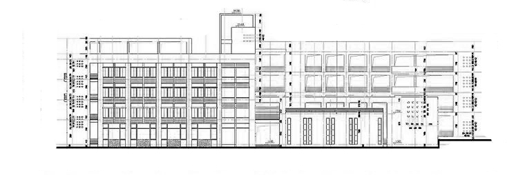 多层学校综合楼建筑图