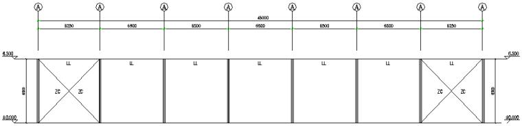 河南单跨门式刚架厂房火电厂工程(CAD,8张)_5