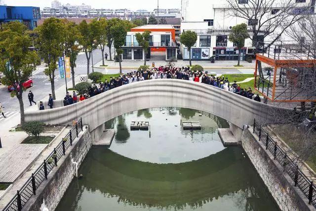 世界最大的混凝土3D打印步行桥—— 在上海落成