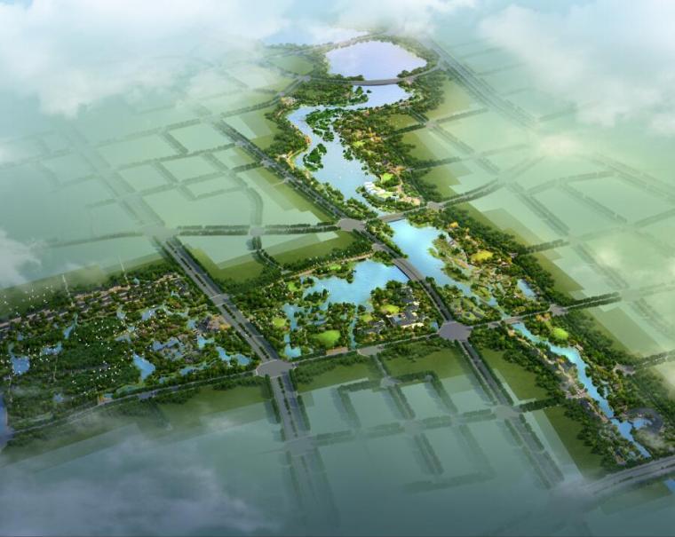 生態濕地公園效果圖PSD分層素材(58分層)