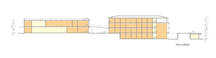 [安徽]高层新中式风格坡顶党校建筑设计方案文本-高层新中式风格坡顶党校建筑剖面图