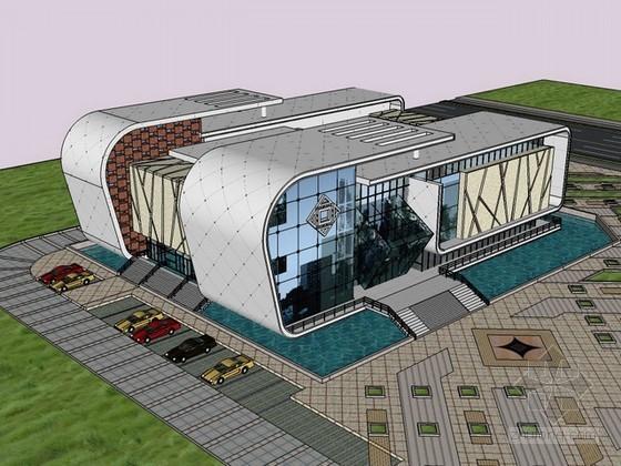 现代展览馆设计sketchup模型