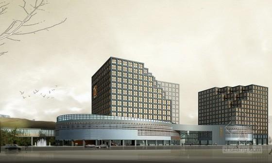 [浙江]12层现代风格企业办公楼建筑方案文本