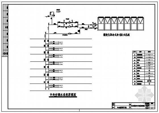 某办公大楼一至八层整套空调水系统图