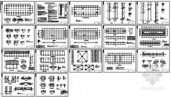 某混凝土柱钢屋架结构设计图