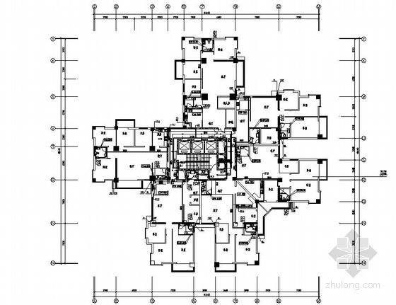 浙江某三十二层住宅给排水平面图