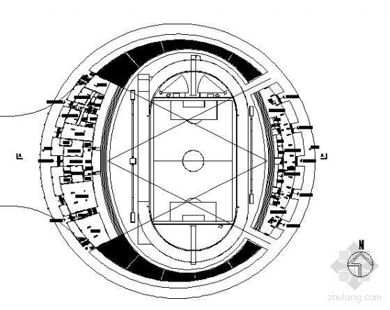 某体育场馆建筑规划设计方案图