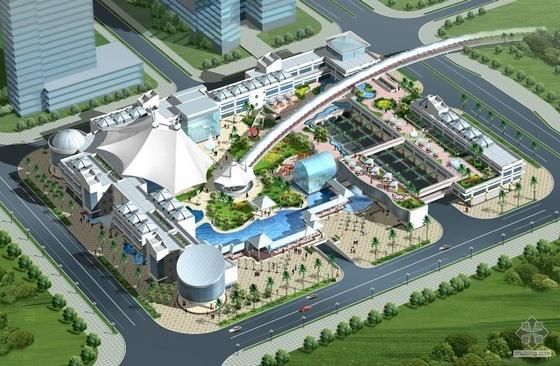 [深圳]某城市中心区购物公园建筑设计(sedi)(附园林图)