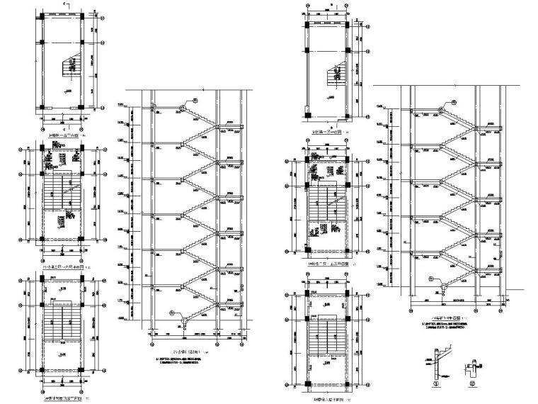 [浙江]地上六层框架结构宿舍楼结构施工图