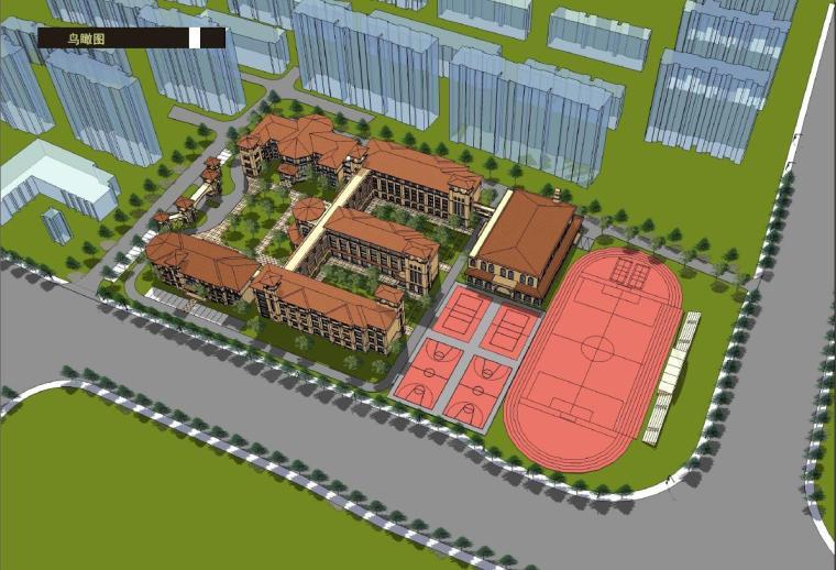 [上海]四层欧式宫廷风格市级小学建筑设计方案文本