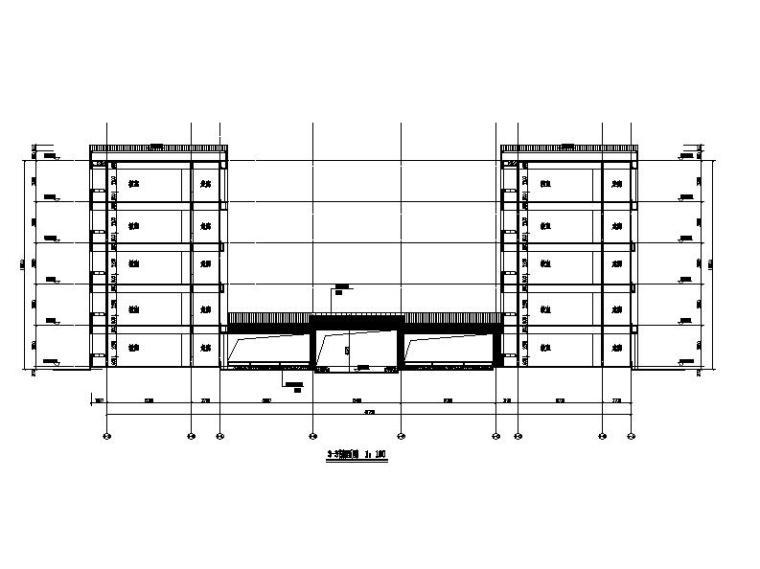 [浙江]五层长条形面砖外墙市级中学建筑施工图(含效果图)_2