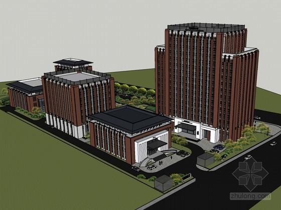现代科技大厦SketchUp模型下载