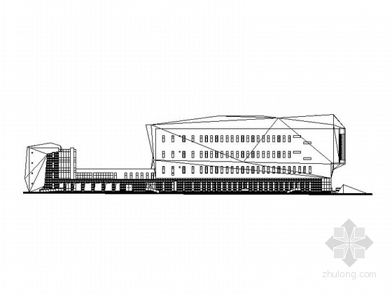 [内蒙古]四层超现代市级博物馆及档案馆建筑施工图
