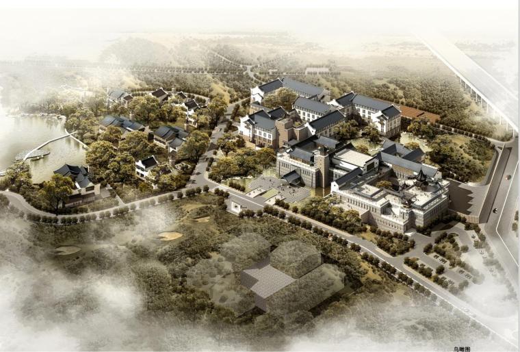 [浙江]新古典风格度假型酒店建筑设计方案文本(含CAD)