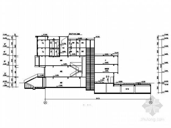现代风格多层住宅区规划剖面图