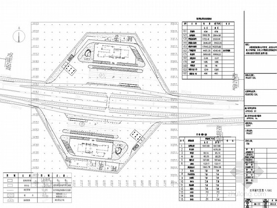 [河南]高速公路服务区交通标志标线设计图纸23张