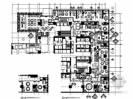 [上海]商务休闲区五星级酒店典雅中餐厅装修施工图(含效果)