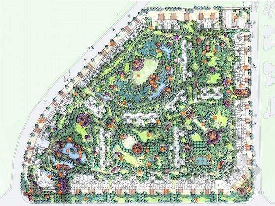 [成都]现代简欧风情居住区景观概念设计方案
