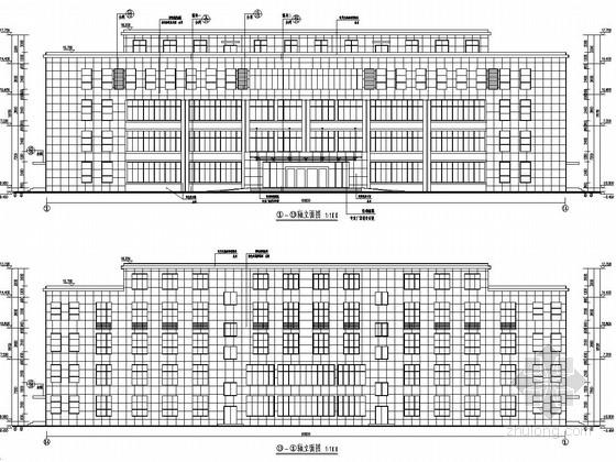 [江西]五层框架结构汽车城技术办公楼结构施工图(含建筑图)