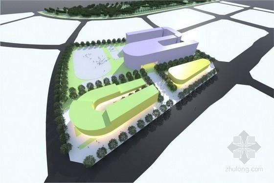 [合肥]学校社区公共绿地景观规划设计方案(七个方案比选)-景观效果图