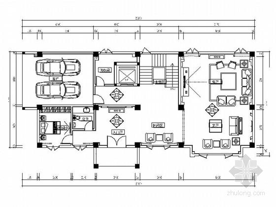 精品豪华中式四层别墅室内装修施工图(含效果图及外墙设计图)