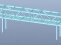 钢桁架结构商业街人行天桥结构图