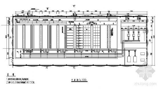 v型滤池全套施工图资料下载-V型滤池工艺施工图