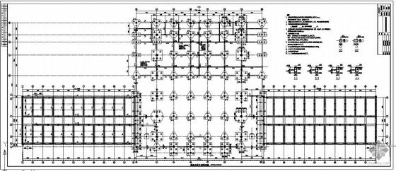 [唐山]中学食堂宿舍多功能厅框架结构设计图