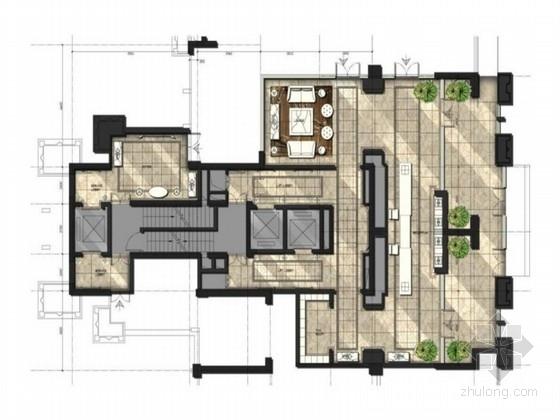 [四川]新中式豪华住宅售楼处标准大堂装修设计方案