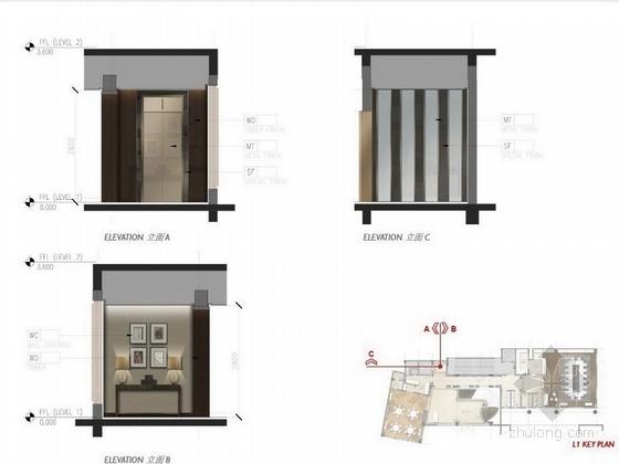 [珠海]独栋古堡式国际会所最终室内设计方案立面图