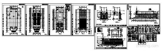[哥特风格]教堂建筑方案图-4