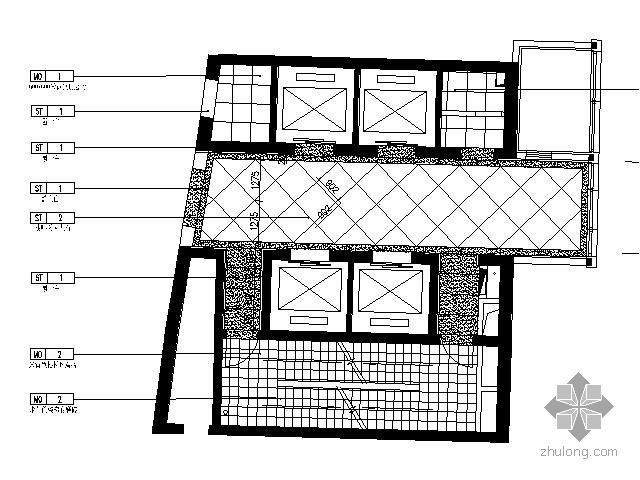 [北京]知名公寓楼电梯间施工图