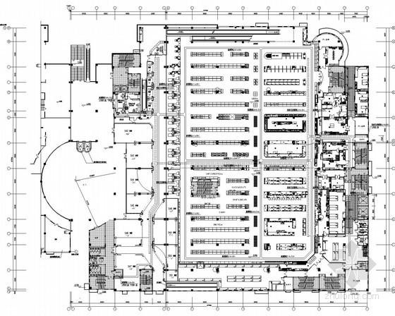 [江苏]大型连锁超市二次装修电气施工图纸