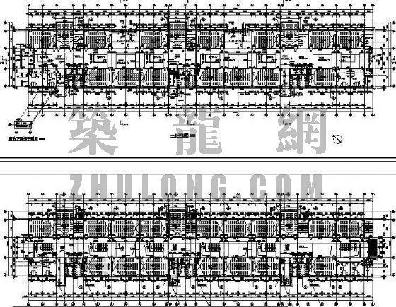 C栋教学楼1-5层平面图