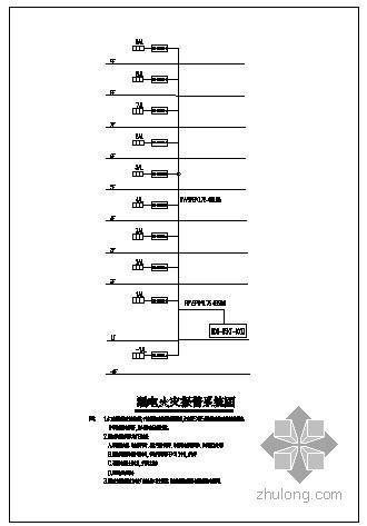 某办公楼漏电火灾报警系统图