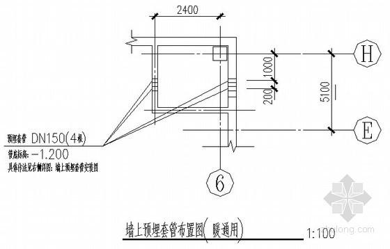 框架柱及抗爆墙平法节点构造施工详图