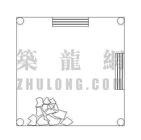 木质方亭施工图-2
