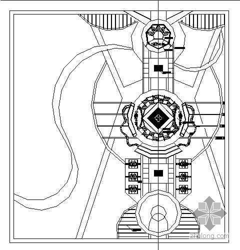 某市政广场CAD方案
