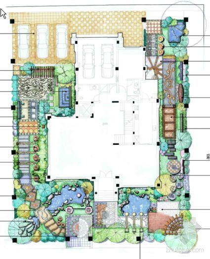 欧式别墅景观设计方案两套