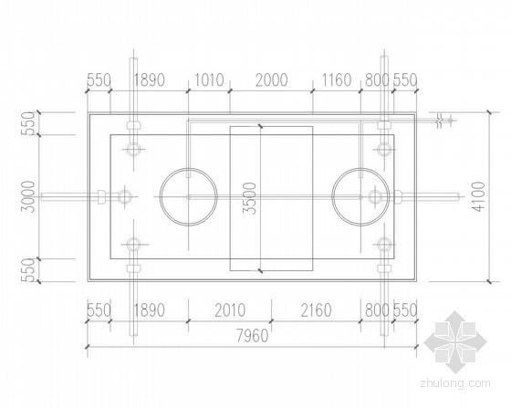 30立方和50立方化粪池设计-砖砌结构化粪池池平面图