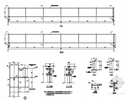 某钢结构厂房吊车梁节点详图