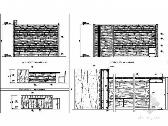 [上海]商业区豪华现代风格酒店餐厅室内装修施工图(含效果)铁板烧包厢立面图