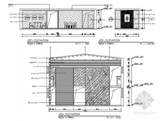 [新疆]2000平海洋主题餐厅室内装修施工图(含实景效果图)-[新疆]2000平海洋主题餐厅室内装修施工图大厅立面图