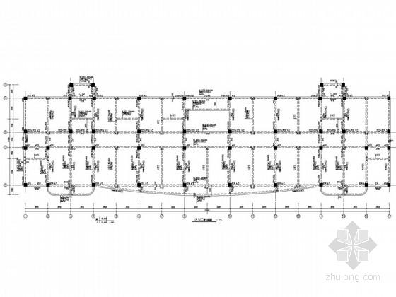 六层平屋面计生服务大楼框架结构施工图