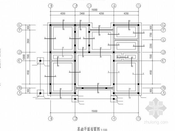 二层砖混坡屋面别墅结构图