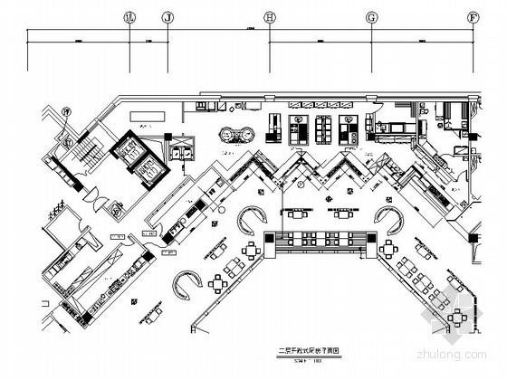 现代简约酒店二层开敞式厨房装修图
