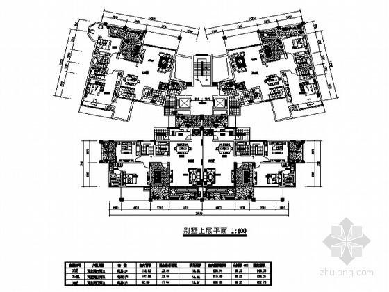 塔式高层住宅户型图