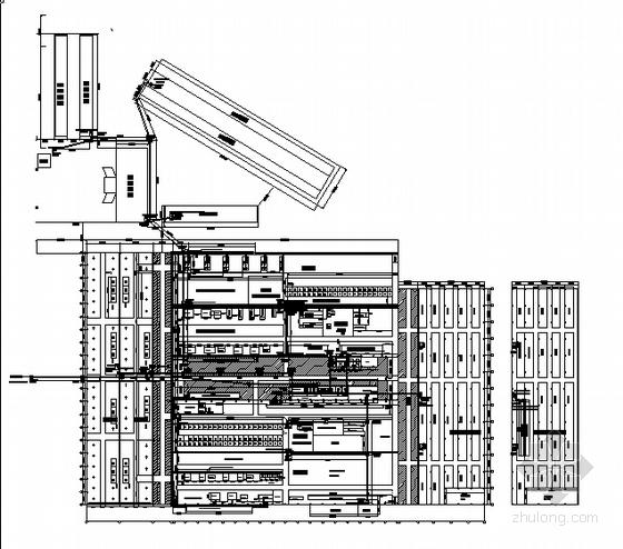 东莞某玻璃厂厂区配电电缆预埋管平面布置图